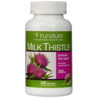 TruNature Milk Thistle - 300 Softgels for Liver Health