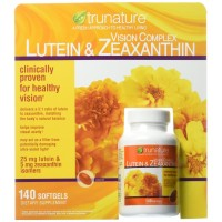 Trunature Vision 140 Softgels Complex Lutein and Zeaxanthin Supplement, 0.3 Ounce