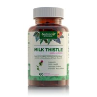 Ultra Pure Milk Thistle Extract by Nature's Wellness 60-Count Concentrate Formula 450 mg Dose of 80% Natural Silymarin Extract and Milk Thistle Herb, Supports Ultimate Liver Health + Detox + Cleanse