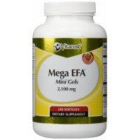Vitacost Mega EFA Mini Gel Omega-3 EPA & DHA Fish Oil -- 2,126 mg - 240 Softgels