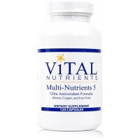 Vital Nutrients - Multi-Nutrients 5 - Ultra Antioxidant Formula (Boron, Copper, & Iron Free) - Ultra Antioxidant Multi-Vitamin/Mineral Formula - 120 Capsules