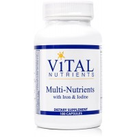Vital Nutrients - Multi-Nutrients with Iron & Iodine - Comprehensive Multi-Vitamin/Mineral Formula Containing Iron and Iodine - 180 Capsules