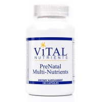 Vital Nutrients - PreNatal Multi-Nutrients - Women's Multi-Vitamin/Mineral Formula With Potent Antioxidants - 180 Capsules