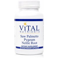 Vital Nutrients - Saw Palmetto / Pygeum / Nettle Root - Supports Healthy Prostate Function - 60 Capsules