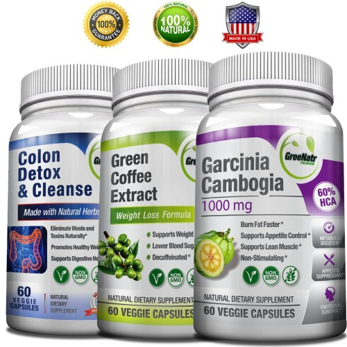 Weight Loss Perfect TRIO- Pure Green Coffee Bean Extract + Pure Garcinia  Cambogia Extract +
