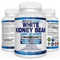 White Kidney Bean - 100% Pure Extract - Carb Blocker to Intercept Fat & Carbohydrate - Weight Loss Nutritional Supplement - Appetite Control Suppressants & Diet Pills - BioScience Nutrition