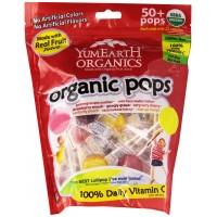 YumEarth Organic Lollipops, 12.3 Ounce Bag (Approx 50 pops)