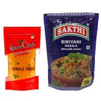 Sakthi Biriyani Masala 200g + The Spice Club Turmeric Powder 100g