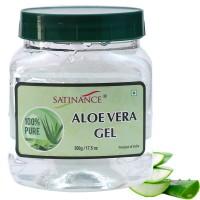 Satinance Aloe Vera Gel 500 Grams - 100% Natural, No Added Colors & Perfume