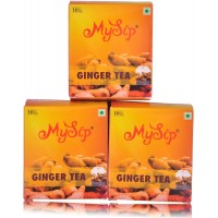 Mysip Ginger Tea (Dip Tea-10 Bags) 20Gm - (Pack Of 3)