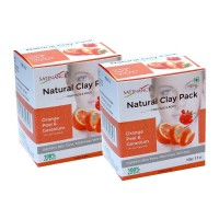 Natural Clay Pack Orange Peel & Geranium 100g Pack Of 2 (for Face & Skin, 100% Natural)
