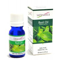 Satinance Basil Oil -10ml (100% Pure Essential Oil, Aromatherpy Oil, For Diffuser)