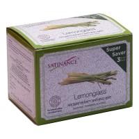 Satinance Lemongrass Aromatherapy Bathing Bar (transparent) 300g (100 * 3) Super Saver Pack - Sulphate, Parabeen, Sls Free, No Added Perfume & Colour
