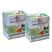Satinance Natural Clay Pack Carrot, Basil & Cucumber – 100g (pack Of 2) (gentle, Moisturizing)