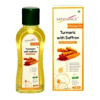 Satinance Turmeric With Saffron Massage Oil 100ml - (no Mineral Oil, No Petrochemicals, No Perfumes)