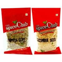 The Spice Club Cucumber Seeds (vellari Vidhai) 100g + Pumpkin Seeds (poosani Vidhai) 100g Refill