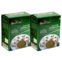 The Spice Club Curry Leaf (Kariveppilai) Chutney Powder 100g (Pack of 2) - 100 % Natural. No Preservatives.