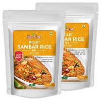 The Spice Club Millet Sambar Rice Mix 1 kg (Pack of 2) - (100% Natural, Low GI, Gluten Free & Diabetics Friendly Food)