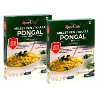 The Spice Club Millet Ven / Khara Pongal Mix 200 Grams (Pack of 2) (100 % Natural, Low GI, Gluten Free & Diabetics Friendly Food) No Rice Formula