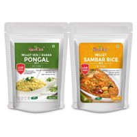 The Spice Club Millet Ven Pongal (Khara Pongal) Mix 500g + Millet Sambar Rice Mix 500g (100% Natural, Low GI, Gluten Free & Diabetics Friendly Food)