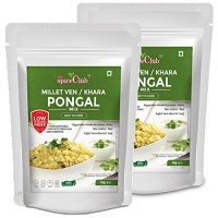 The Spice Club Millet Ven/Khara Pongal Mix 1 Kg (Pack of 2) - (100% Natural, Low GI, Gluten Free & Diabetics Friendly Food) No Rice Formula
