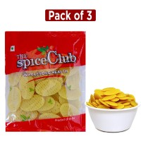The Spice Club Pappad Fryums 3d Oval 250g (pack Of 3) (crunchy And Tasty, Ready To Fry)