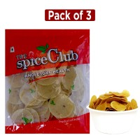 The Spice Club Pappad Fryums Ajowan 250g (pack Of 3) (crunchy And Tasty, Ready To Fry)