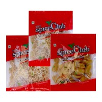 The Spice Club Pappad Fryums Star 250g + Potato Wheel 250g + Potato Kpch 250g