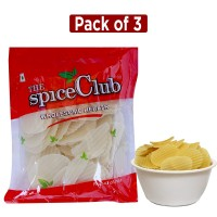 The Spice Club Pappad Fryums White WC- P 250g (Pack of 3) (Crunchy and Tasty, Ready to Fry)