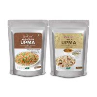 The Spice Club Rava Upma Mix 500g + Wheat Rava Upma Mix 500g (Easy to Cook, 100% Natural, Traditional Breakfast Dish)