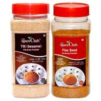 The Spice Club Til (sesame) Chutney Powder 250g + Flax Seed Chutney Powder 250g Jar