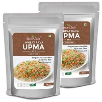 The Spice Club Wheat Rava Upma Mix 1 Kg (Pack of 2) - (Easy to Cook, 100% Natural, Traditional, Instant Mix)