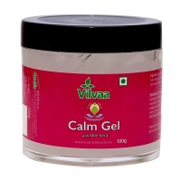 Vilvaa Calm Gel With Aloe Vera - 100g (no Mineral Oils, No Petro Chemicals) For Relaxation, Stress Relief