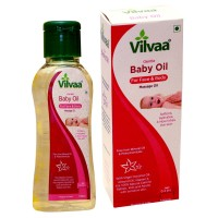 Vilvaa Gentle BABY OIL For Face and Body Massage - 100 ml ( 0 - 2 YEARS) Free from Mineral Oil & Petrochemicals