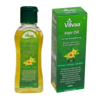 Vilvaa Hair Oil 100 Ml (with Vitamin E, 100 % Natural, Reduces Hair Loss & Strengthens Hair, Non Greasy, Non Sticky, Light Weight)