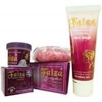 Faiza Beauty Cream Skin Whitening Soap Face Wash Set Of 3