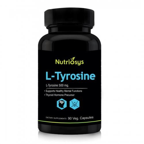 Nutriosys L-Tyrosine 500mg (90 Veg Capsules)