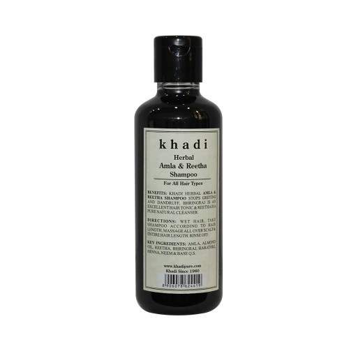 Khadi Herbal Amla & Reetha Shampoo - 210ml