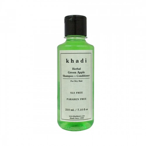 Khadi Herbal Green Apple Shampoo + Conditioner SLS-Paraben Free - 210ml