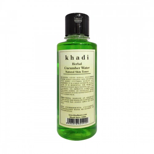 Khadi Herbal Cucumber Water - 210ml