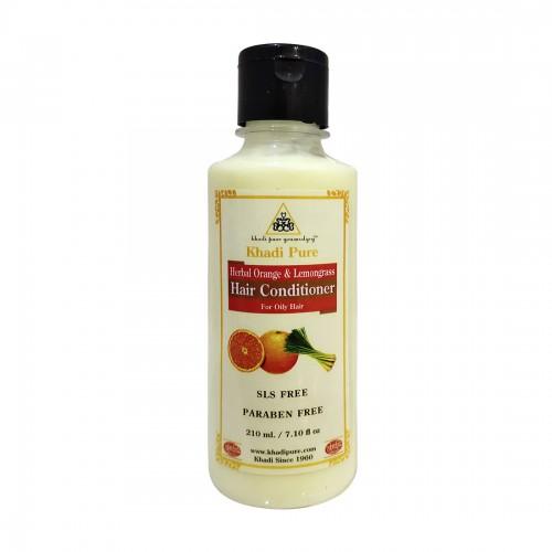 Khadi Pure Herbal Orange & Lemongrass Hair Conditioner Sls-paraben Free - 210ml
