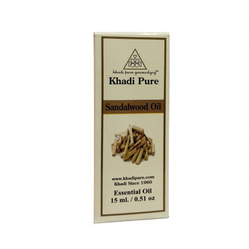 Khadi Pure Herbal Sandalwood Essential Oil - 15ml