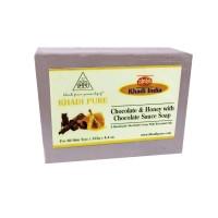 Khadi Pure Herbal Chocolate & Honey With Chocolate Sauce Soap With Sheabutter - 125g