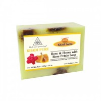 Khadi Pure Herbal Rose & Honey With Rose Petals Soap With Sheabutter - 125g