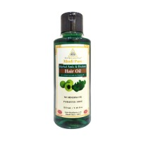 Khadi Pure Herbal Amla & Brahmi Hair Oil - Mineral Oil & Paraffin Free - 210ml