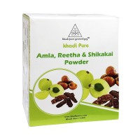 Khadi Pure Herbal Amla, Reetha & Shikakai Powder - 80g