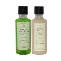 Khadi Pure Aloevera + Khadi Pure Jasmine & Mogra Body Wash SLS Free Combo (420ml) Pack 2