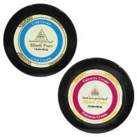 Khadi Pure Cold Cream Or Fairness Cream Combo (100g) Pack 2