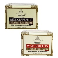 Khadi Pure Watermelon And  Wine Grape Fruit Lip Balm Combo (20g) Pack 2