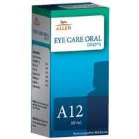 Allen A12 Eye Care Oral Drops (30ml) : For Redness and Pain in Eyes, Conjunctivitis, Eye Strains, Diplopia